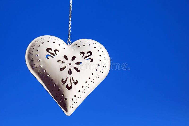 Metal heart stock image