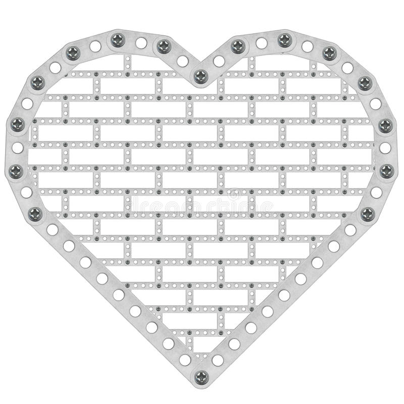 Metal heart stock images