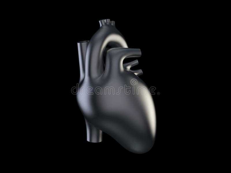 Metal heart royalty free stock image