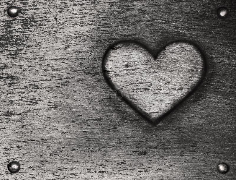 Metal heart on metal