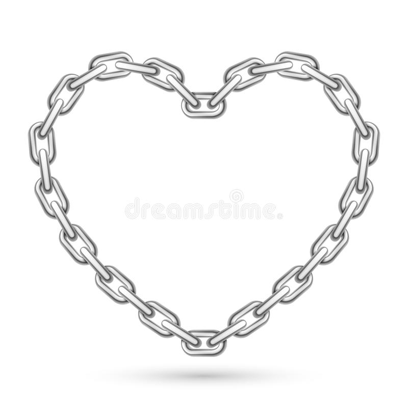 Free Metal Heart Shaped Chain Royalty Free Stock Images - 48595309