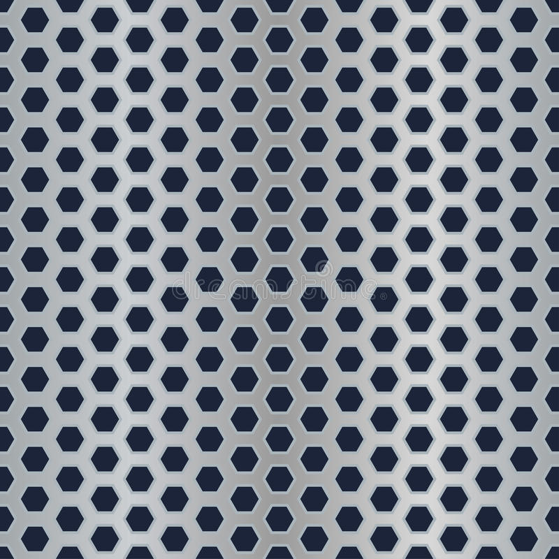 Metal Hexagon Perforated Texture Stock Vector