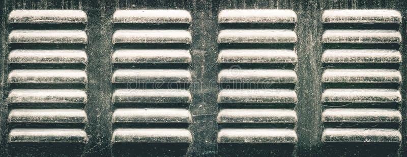 Metal holes of ventilator air passage of refrigerator stock images