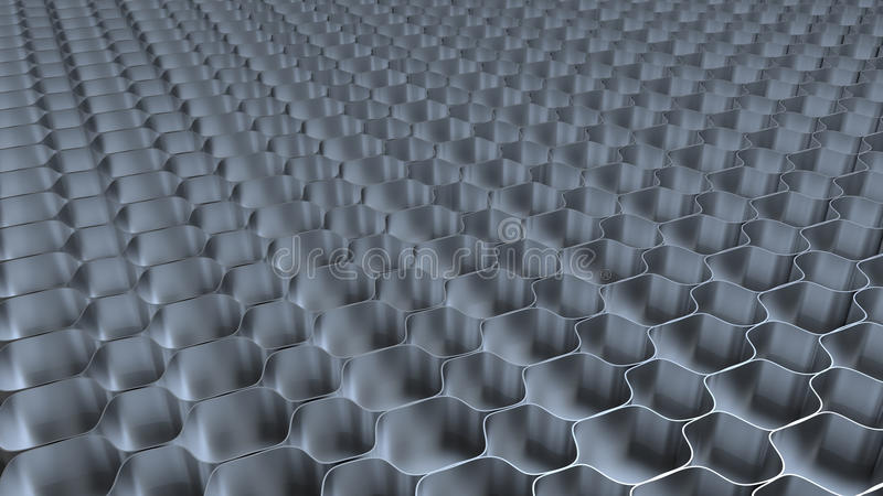 Metal honeycomb background royalty free illustration