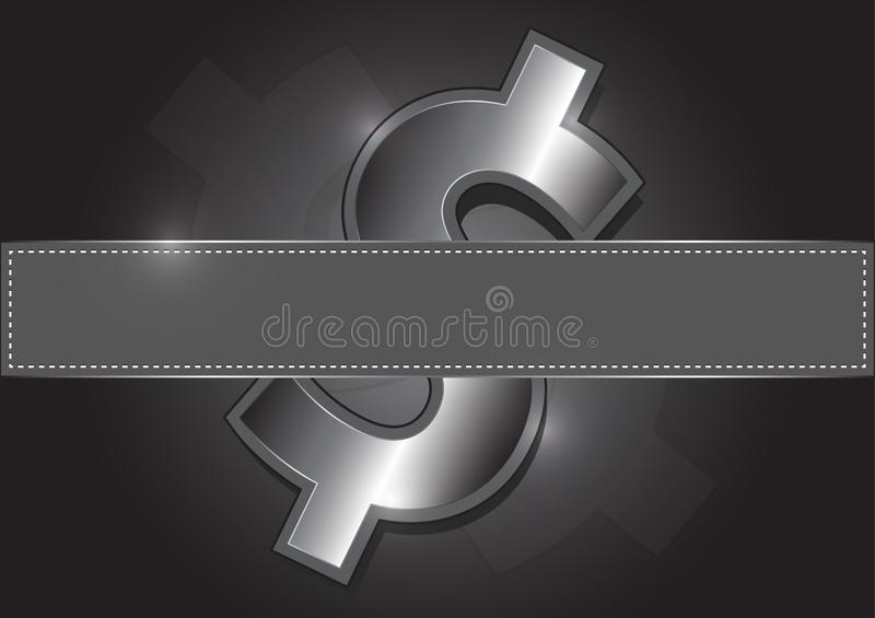 Metal icon dollar, Fills vacant posts. Is a general illustration stock illustration