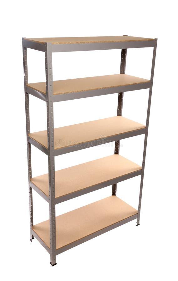 Download Metal Industrial Storage Shelves. Stock Image   Image Of Wood,  Industry: 32714705