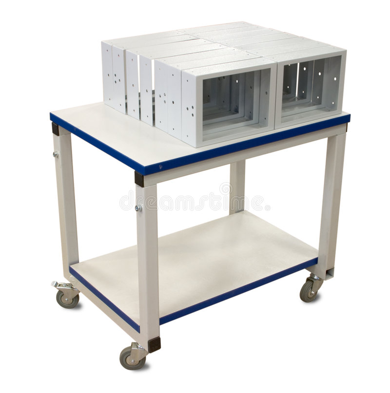 Download Metal industrial trolley stock image. Image of stock, carts - 2043701