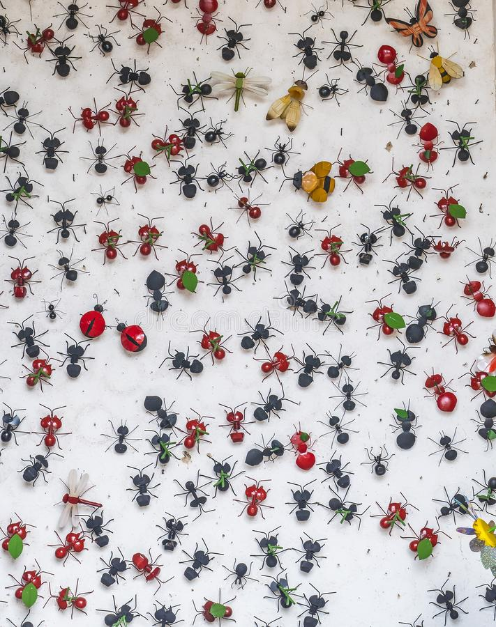 Metal insects royalty free stock image