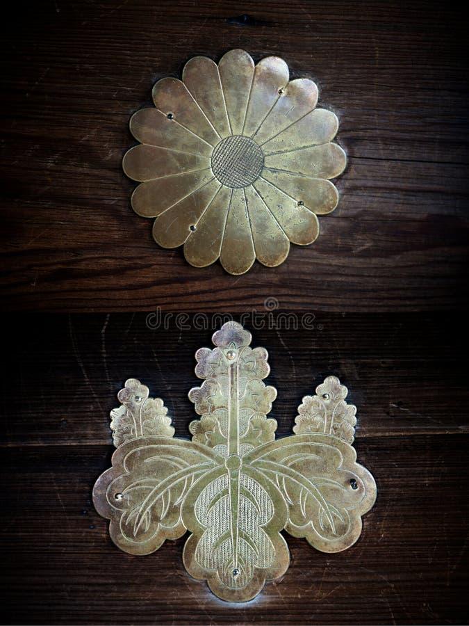 Metal Japanese crests kamon royalty free stock photography