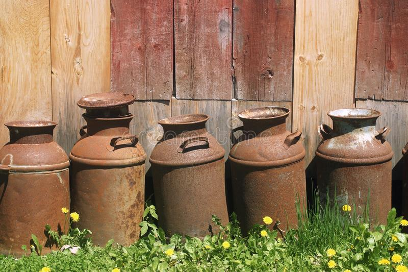Metal Jugs Stock Image
