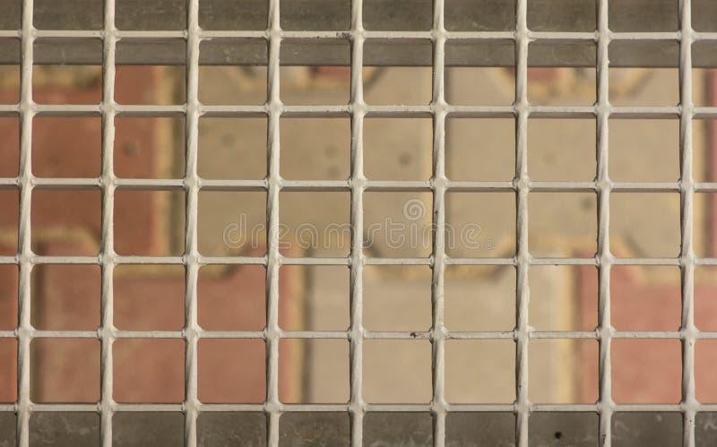 Metal kratownica na krokach ganeczek, zakończenie zdjęcia royalty free