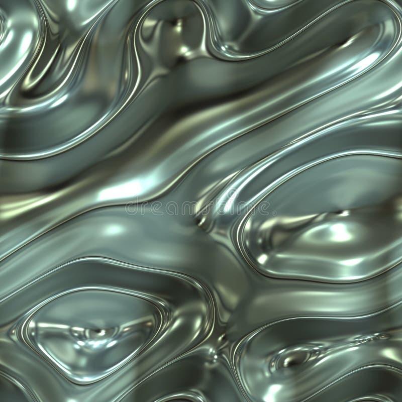 Metal líquido ilustração stock