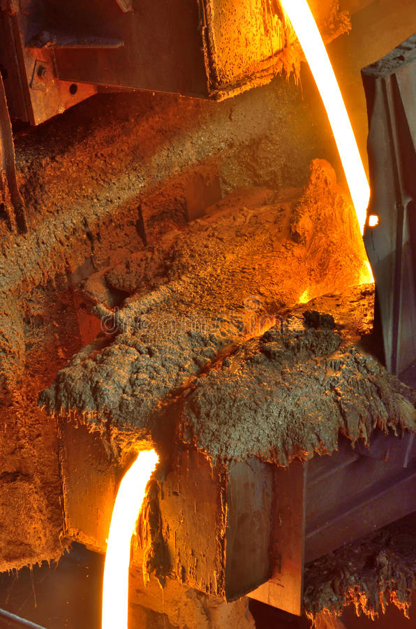 Metal líquido del horno foto de archivo libre de regalías