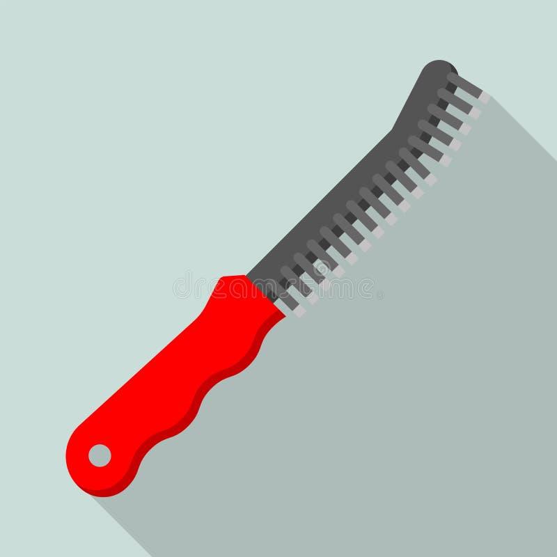Metal la brosse pour l'icône de soudeuse, style plat illustration de vecteur