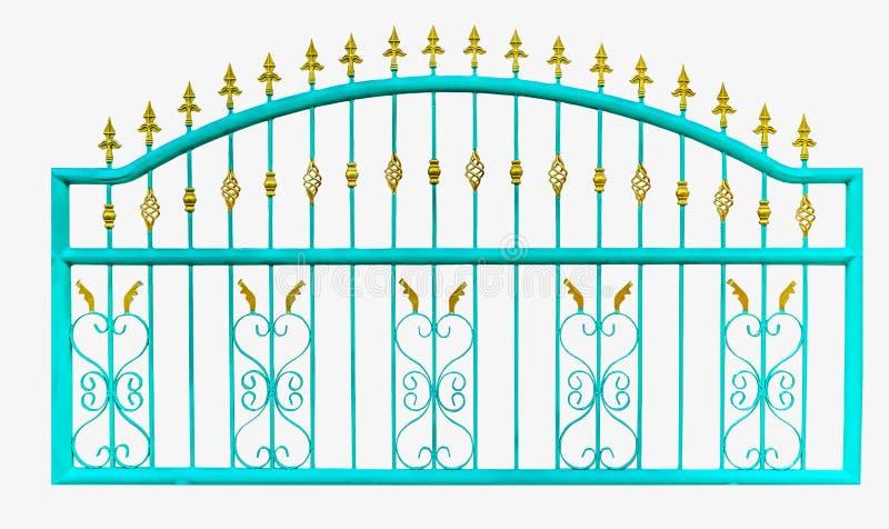 Metal la cerca, aislante, foto blanca de la acción del fondo fotografía de archivo