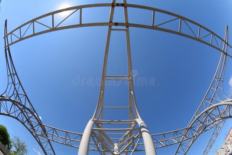 Metal la construction Structure de cadre en acier photographie stock