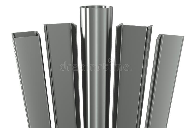 Metal la pipe, poutres, angles, canaux illustration libre de droits