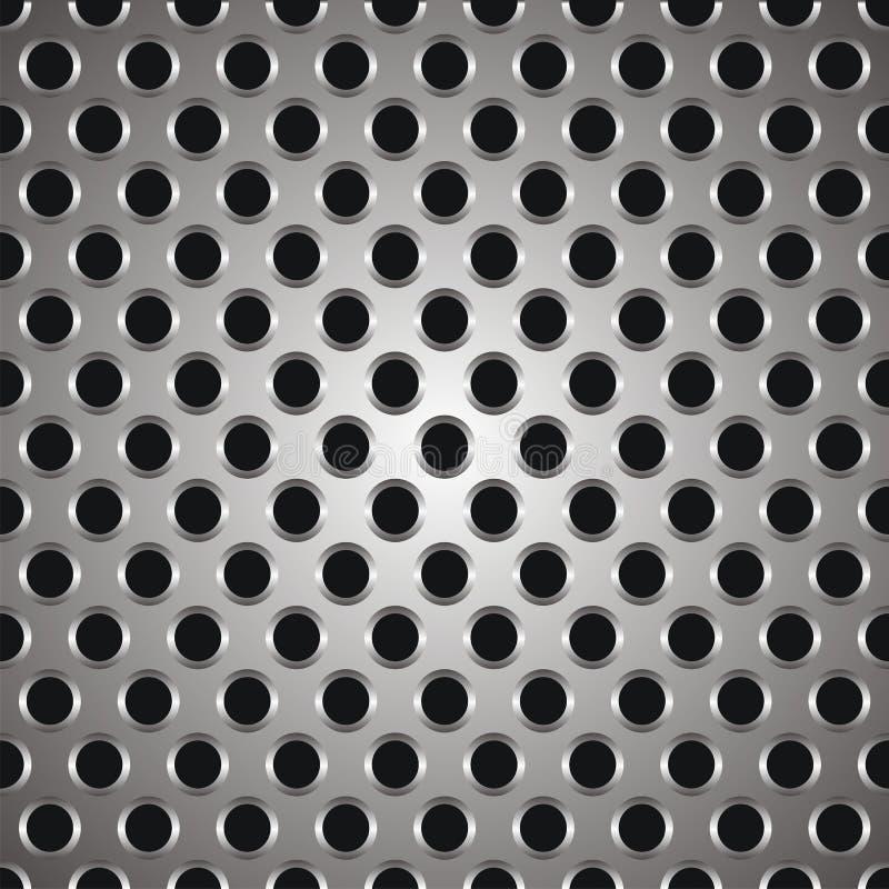 Metal la struttura dei puntini illustrazione di stock