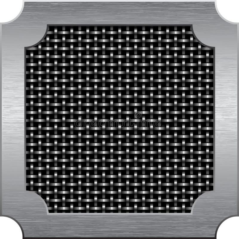 Metal la trame autour de la maille en métal du fil illustration stock