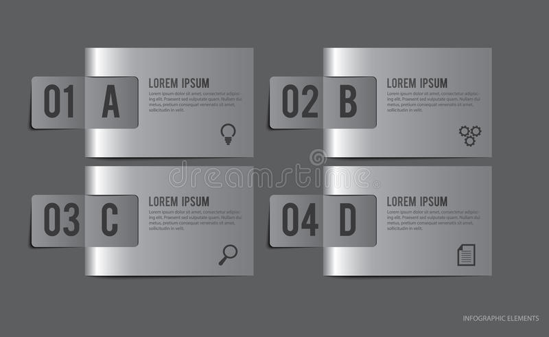 Metal Labels Infographic Elements. Metal labels for infographic elements and website. Vector illustration can be used for options labels, business steps, banner vector illustration