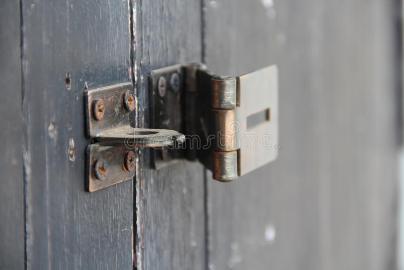 Metal latch royalty free stock photos