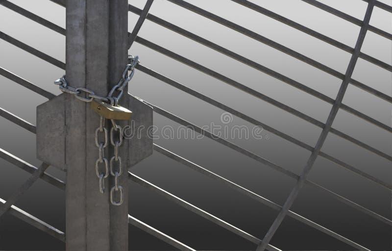 Download Metal lattice door stock image. Image of metal, solid - 35104199