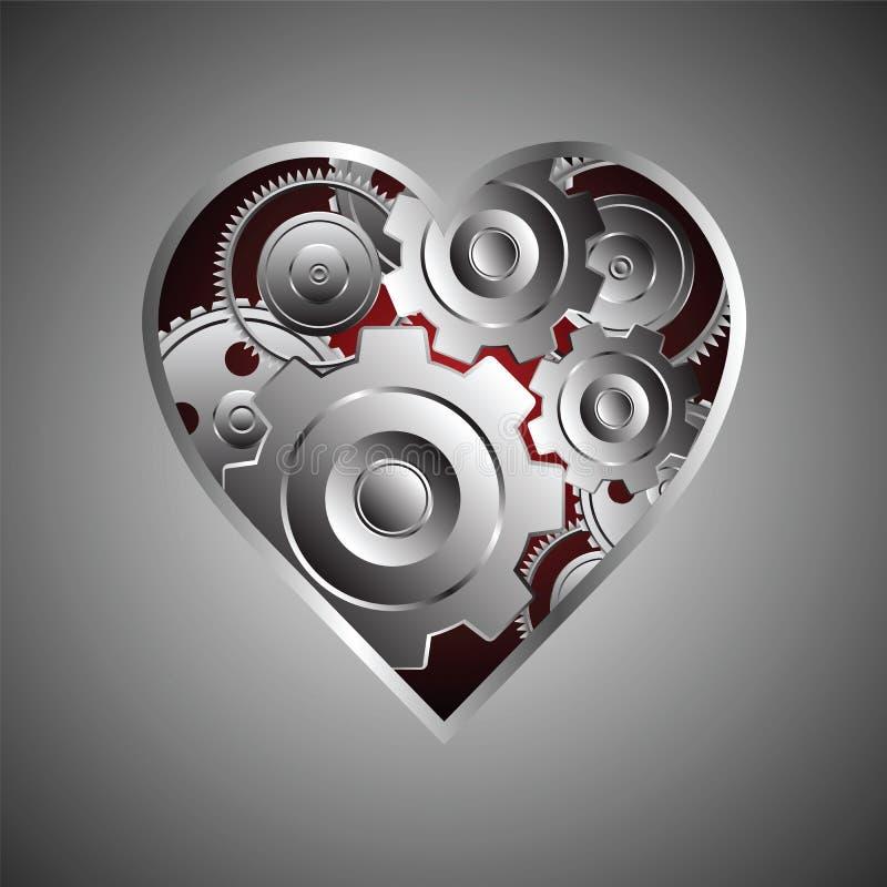 Metal le coeur illustration libre de droits