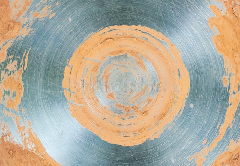 Metal le modèle brillant de base beige grise de noyau de cercle de fond photographie stock