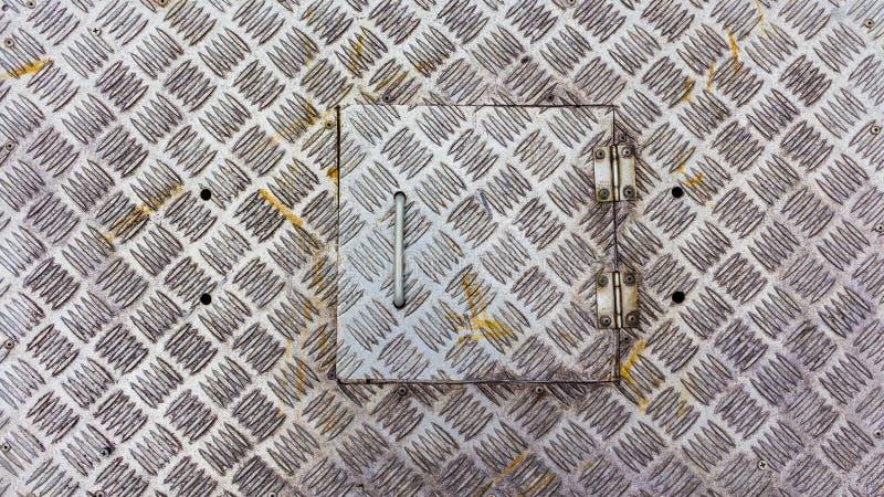 Metal le plancher d'usine, texture balayée en métal, vieil acier inoxydable photos stock