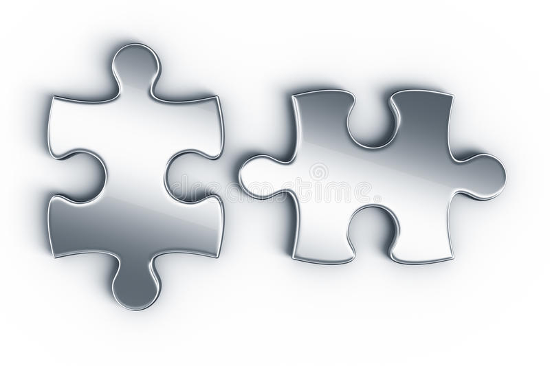 Metal les parties de puzzle illustration stock