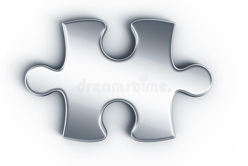 Metal les parties de puzzle illustration libre de droits