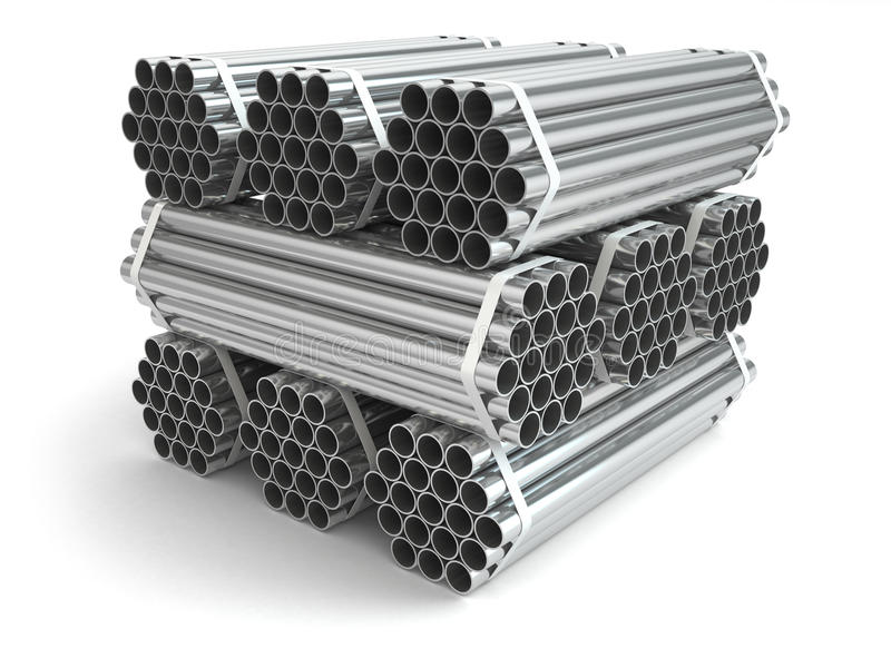 Metal les pipes Acier de matériau de l'industrie sidérurgique illustration libre de droits