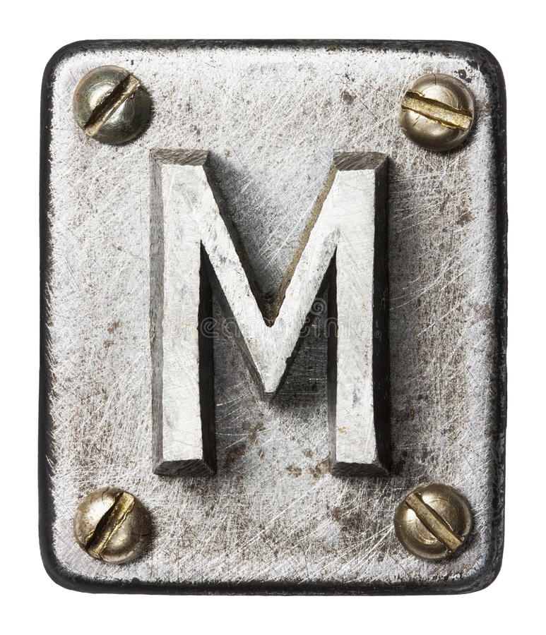 Metal letter stock images