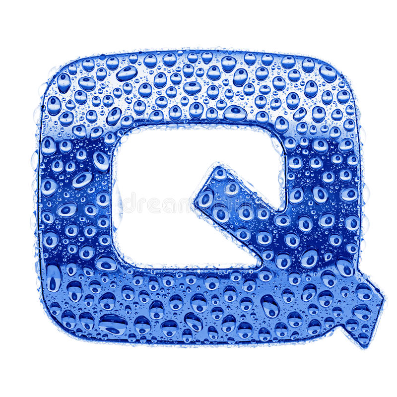 Download Metal Letter & Water Drops - Letter Q Royalty Free Stock Photography - Image: 16565387