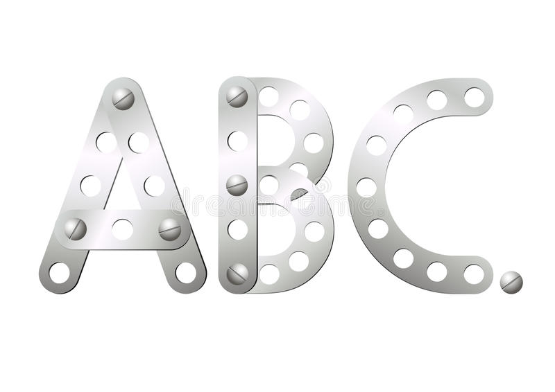 Download Metal Letters A, B, C Stock Photos - Image: 18829773
