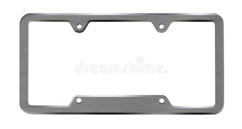 Metal license plate frame stock image