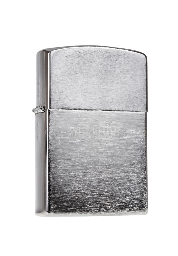 Download Metal lighter isolated stock photo. Image of brushed - 27436816