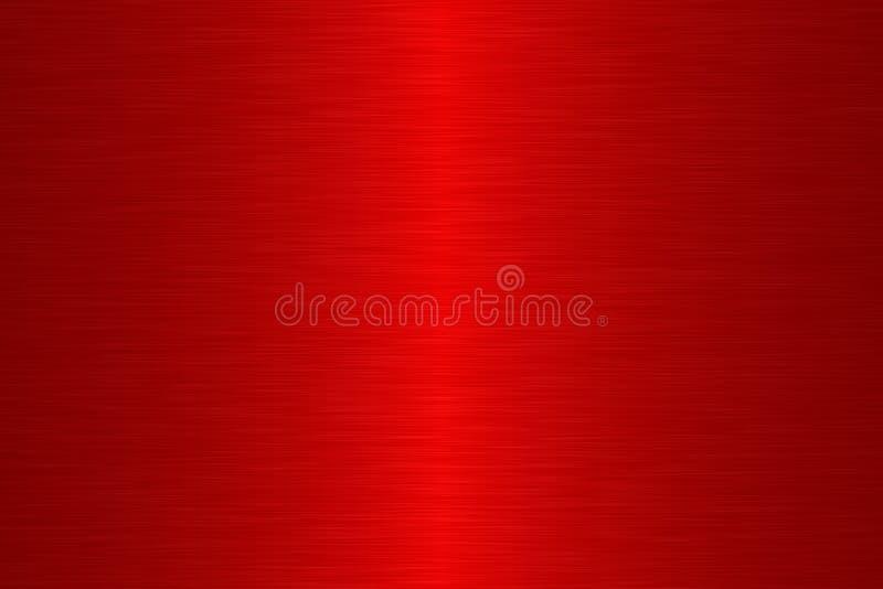 Metal linear da escova - vermelho ilustração do vetor