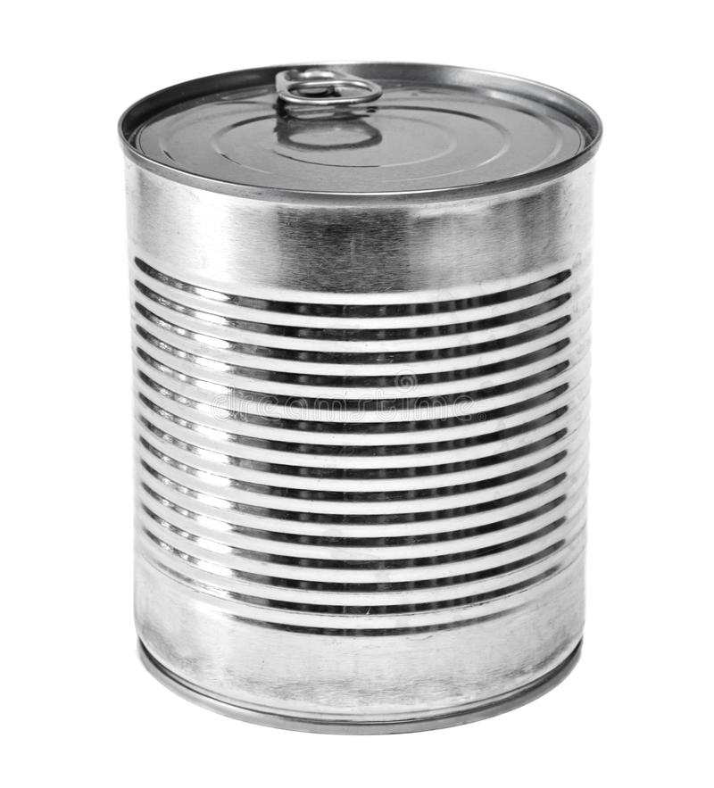 Metal lit or aluminum can, isolated stock photography