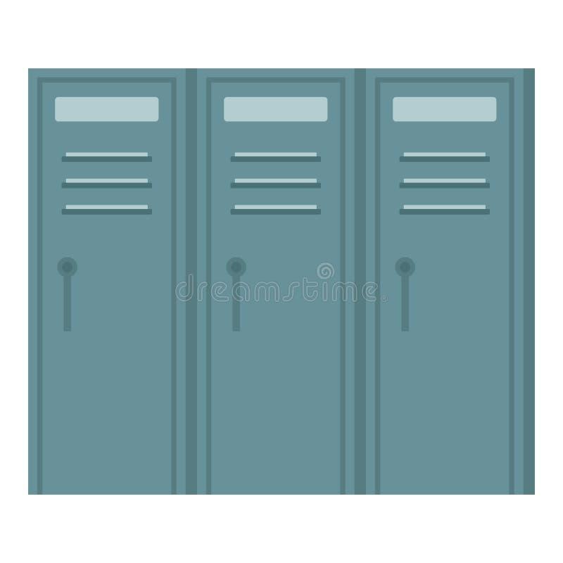Metal locker wardrobe icon, flat style vector illustration