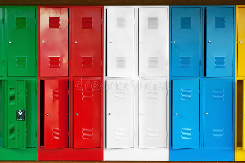 Metal lockers royalty free stock images