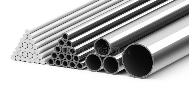 Metal los tubos stock de ilustración