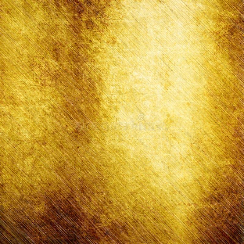 Metal lustrado ouro imagens de stock
