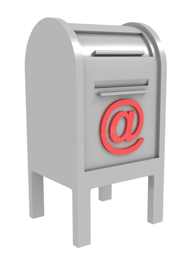 Download Metal Mail Box With E-mail Sign Stock Illustration - Image: 20635602