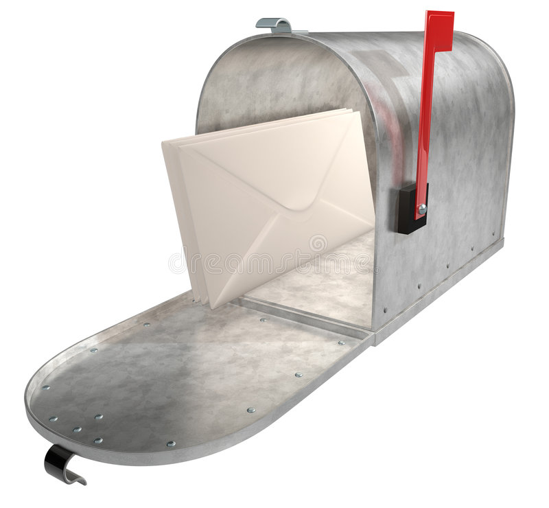 Download Metal Mailbox stock photo. Image of envelopes, post, good - 1475442