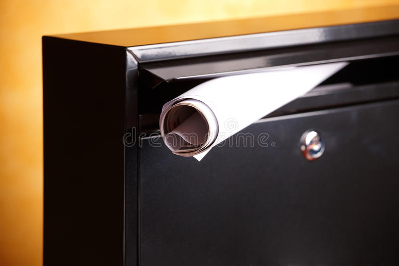 Download Metal mailbox stock photo. Image of rolled, keyhole, incoming - 22819976