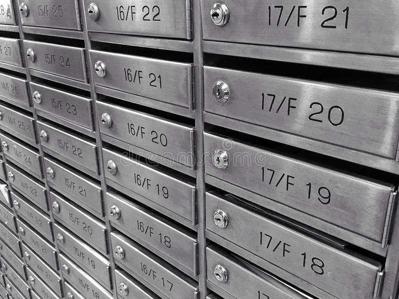 Metal mailbox stock images