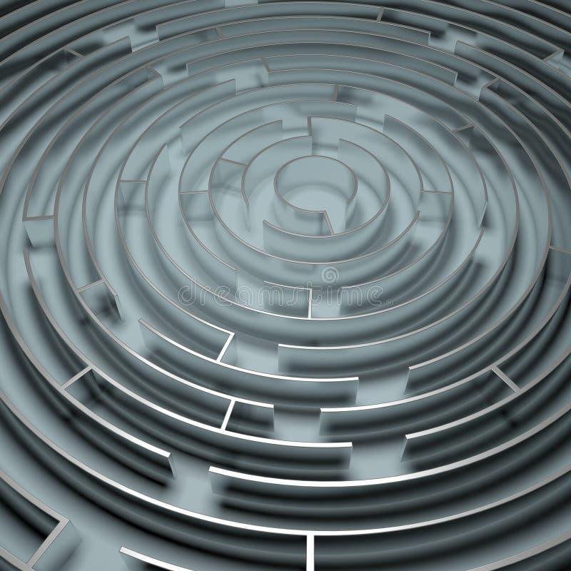 Download Metal Maze stock illustration. Image of circle, finding - 32601573