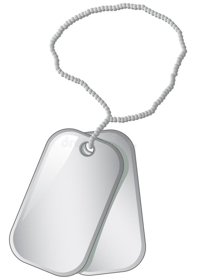 Metal medallions vector illustration