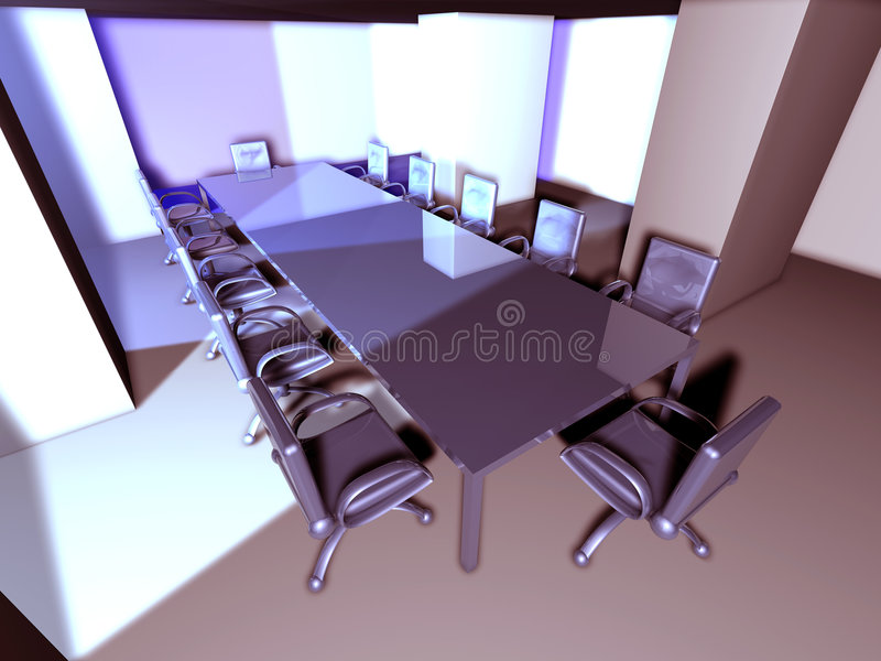 Metal Meeting Room 2 royalty free illustration